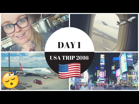 DAY 1 | TRAVELLING TO AMERICA | VLOG | #AliUSA2016 🇺🇸