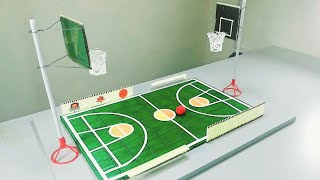 How to make NBA Basketball Board Game using Cardboard and Matches