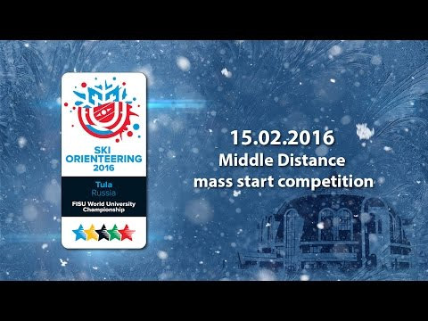 FISU World University Championship. SKI Orienteering 2016. Middle distance mass start competition