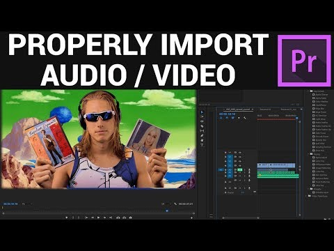 How to properly import audio and video to Premiere Pro