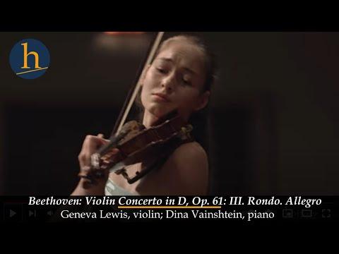 Heifetz 2015: Geneva Lewis & Dina Vainshtein | Beethoven Violin Concerto: III