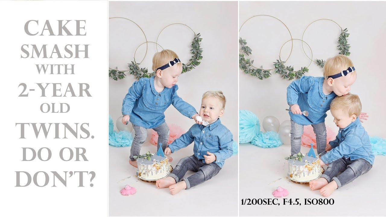 11f48adf3 Cake smash PHOTOSHOOT with TWO-year old TWINS. Super cute or FAIL ...