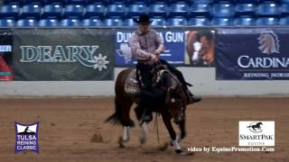Arc Prized Walla ridden by Kyle Shaw  - 2016 Tulsa Reining Classic (Open Derby)