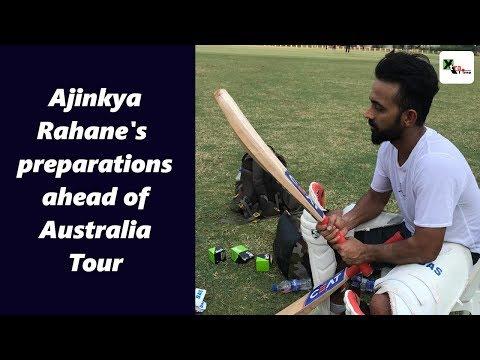 Watch: Ajinkya Rahane preparing ahead of the twin tours of Australia & New Zealand