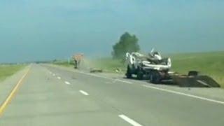See dramatic car crash caught on camera