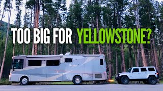 Finding a Yellowstone Campground with NO RESERVATIONS in a LARGE RV