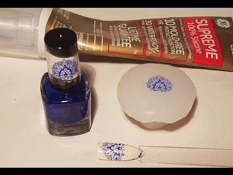 DIY How to Make Nail Art Stamper from Silicon Caulk Part 2