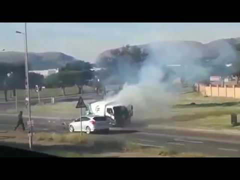 WATCH: South Africa heist cash-in-transit caught on camera
