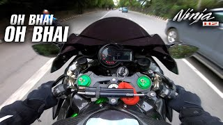 Accidental Wheelie on NINJA H2