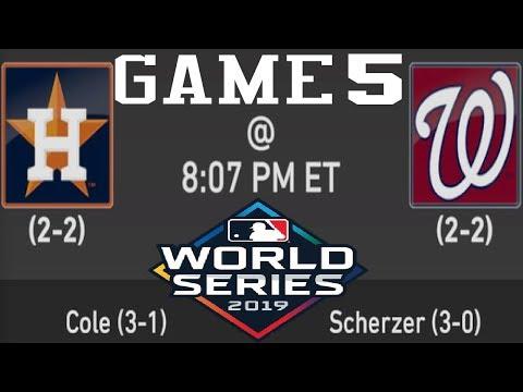 MLB World Series 2019 Game 5   Houston Astros @ Washington Nationals   Oct.27,2019