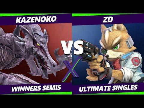 Smash Ultimate Tournament - ZD Fox  Vs Kazenoko Cloud Ridley - SX 286 SSBU Winners Semis