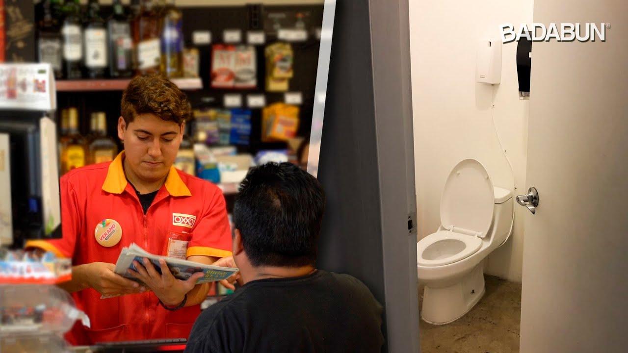 Así es trabajar en un OXXO. Tienen un baño secreto
