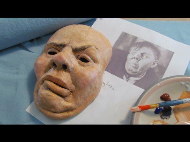 Paper Mache Halloween Mask
