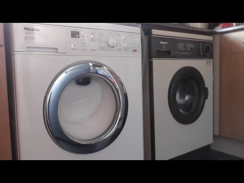 Hotpoint 9530 vs Miele W562 - Net Curtain Wash