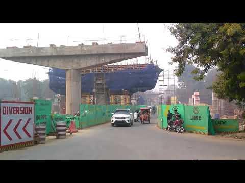 Lucknow Metro K D Singh Babu stadium station work thumbnail