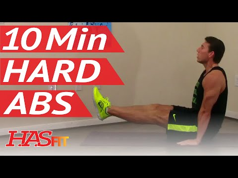 10 Min Demolition Abs Workout - HASfit Extreme Abdominal Exercises - Hard Ab Workouts - Advanced Ab