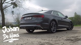 Audi S5 Coupé 2017 Exhaust sound and acceleration sounds