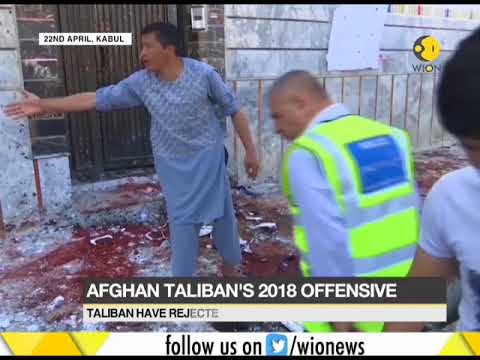 Taliban announces spring offensive; Kabul attack on voter centre killed 57 on Sunday