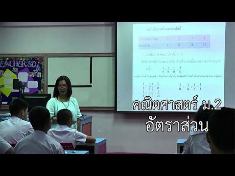 คณิตศาสตร์ ม.2 อัตราส่วน ครูเพ็ญศิริ ศรีสว่าง