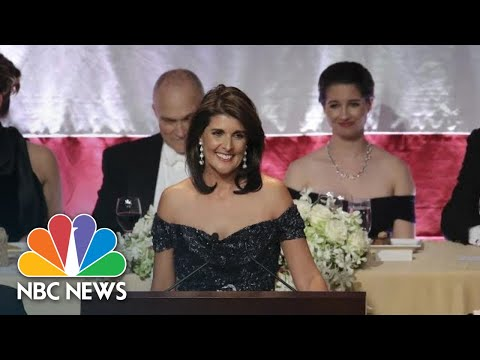 Ambassador Nikki Haley Pokes Fun At Donald Trump, Elizabeth Warren, At Al Smith Dinner | NBC News
