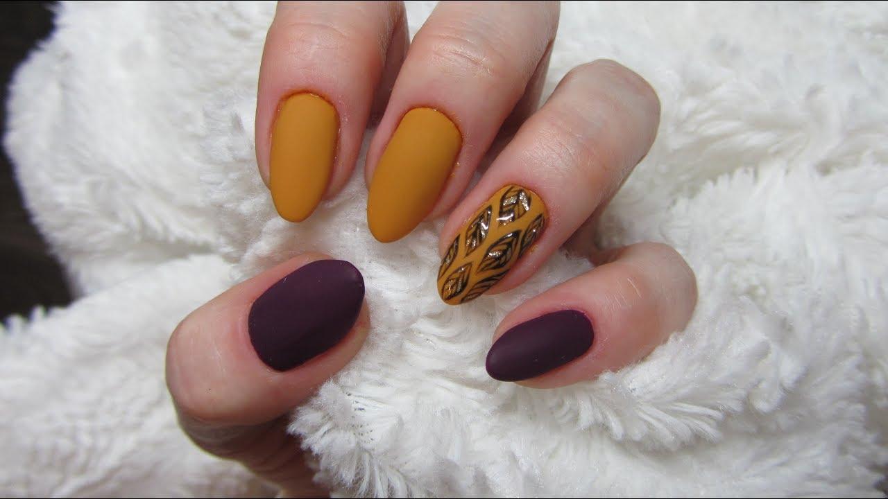 Autumn Nails Jak Zrobic Jesienne Listki Na Paznokciach Youtube