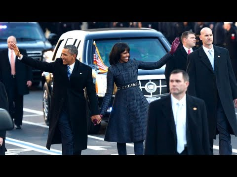 The Obamas Walk The Streets After 2nd Inauguration