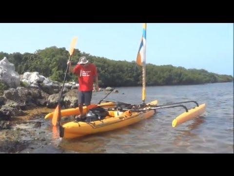 Sailing Hobie TI Trimeran Garden Cove, Key Largo, Florida