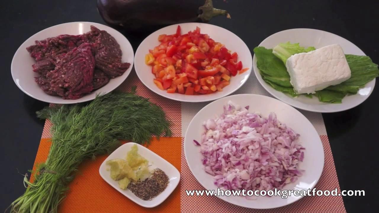 Greek ground beef stuffed eggplant recipe aubergine youtube forumfinder Image collections