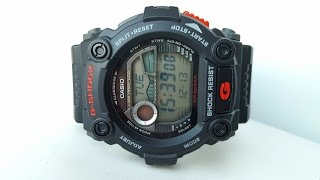 Огляд і параметри Casio G-Shock G-7900-1E (review and setting)