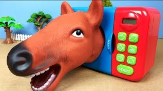Learn Animals For Kids Surprise Animal Fun Video Microwave Oven Toys Transformer Tiger Dog
