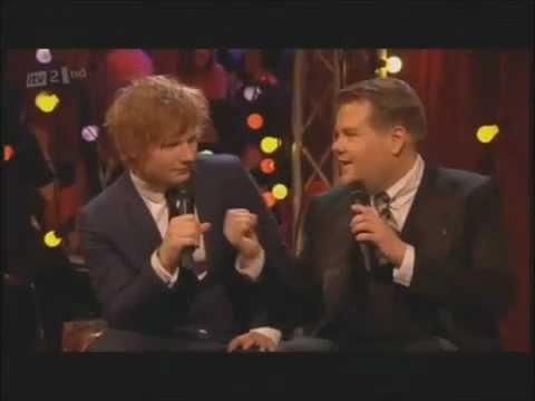Ed Sheeran And James Corden BRITS Interview/duet