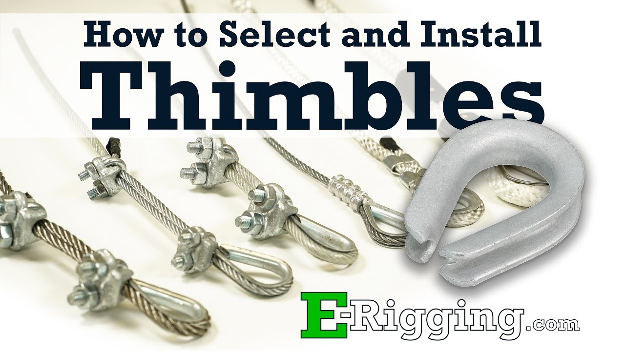 Choosing and Installing Wire Rope Thimbles - YouTube
