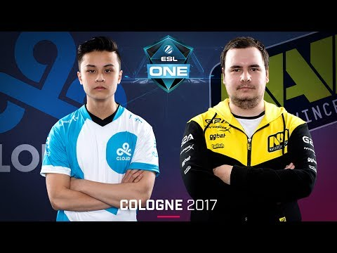 CS:GO - Cloud9 vs. Na'Vi [Mirage] Map 1 - Semifinal - ESL One Cologne 2017
