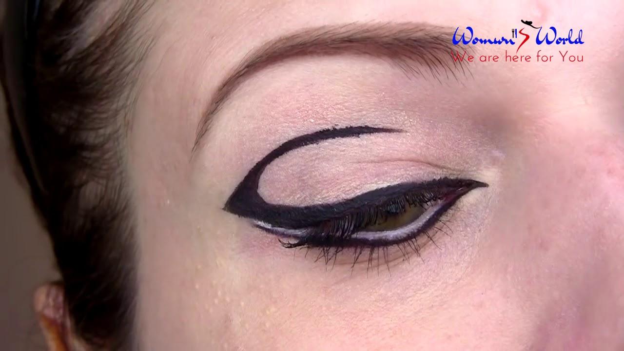 Blue eyeliner + pink tones summer night out makeup tutorial.