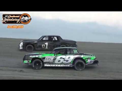 Southwest Speedway Hobby Stock Heats (6/29/19)
