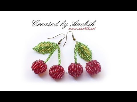 Смотреть Tutorial beaded earrings