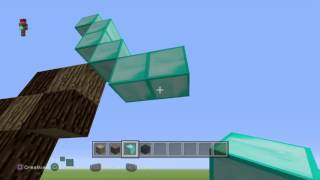 Minecraft , pixel art - SPADA IN DIAMANTE-