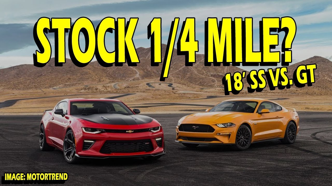 Mustang Gt Vs  Camaro Ss   Mile Who Wins