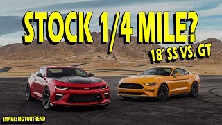2018 Mustang GT vs. 2018 Camaro SS 1/4 Mile! Who Wins?