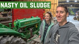 Removing ULTRA THICK Oil Sludge From The John Deere BO Tractor And Its FINISHED