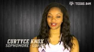 Aggie Women's Basketball Spotlight: Curtyce Knox