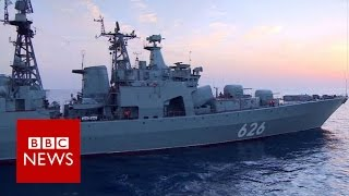 Russia's 'biggest' warship rockets revealed - BBC News