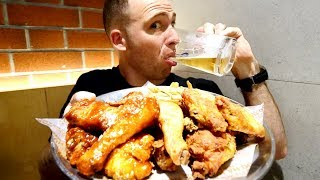 Eating KOREAN Fried Chicken (KFC) + Korean Beer and Soju | Seoul, South Korea