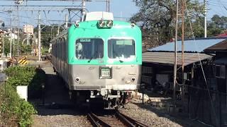 上毛電鉄大胡駅へ入線する700系(元京王井の頭線3000系)