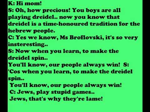 Southpark - Dreidel song lyrics(text)