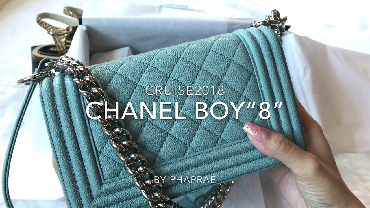 """2597d16fd241 Chanel Boy""""8"""" in light blue SHW cruise2018 (By Phaprae) EP.1 (2 2 ..."""