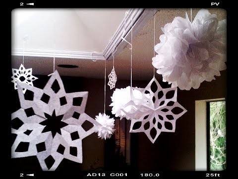 How To Make Paper Snowflakes Easy Amp Quick Tutorial Youtube