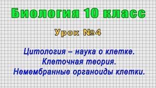 Биология 10 класс (Урок№4 - Цитология – наука о клетке. Клеточная теория.)