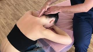 Массаж шеи. Массаж шейно-воротниковой зоны. Классический массаж. Neck massage  Classic massage