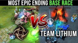 NIP vs LITHIUM - MOST EPIC ENDING EVER? INSANE BASE RACE SHOWDOWN - UNREAL Comeback Play Dota 2